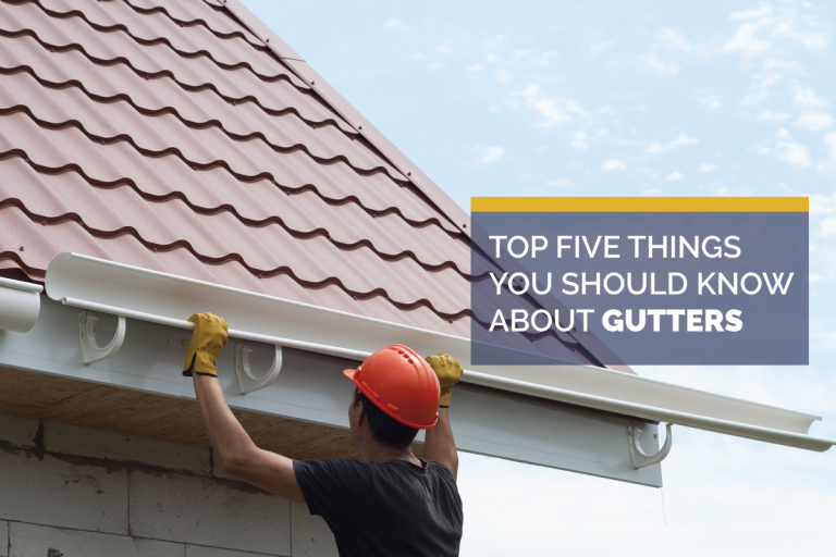 Five Things to Know About Roof Gutters
