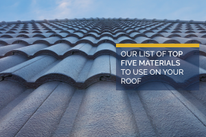 Top 5 Materials for Roof Shingles
